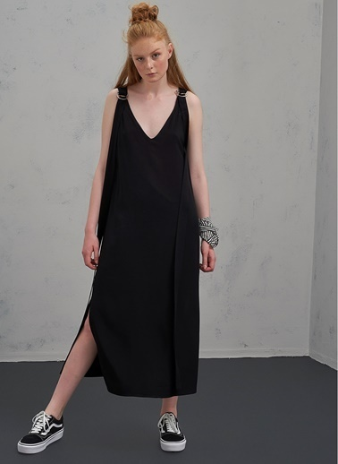 Pi π Toka Detaylı Elbise Siyah